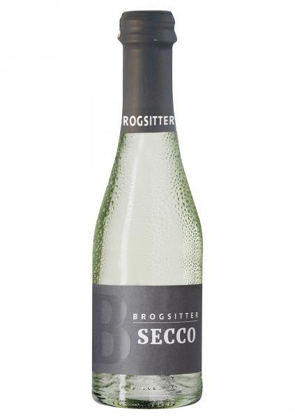 Brogsitter Secco trocken - weiß Perlwein Piccolo 0,2